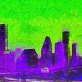 Houston Skyline 43 - Pa by Leonardo Digenio