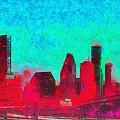 Houston Skyline 44 - Pa by Leonardo Digenio