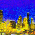 Houston Skyline 45 - Pa by Leonardo Digenio
