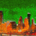 Houston Skyline 48 - Pa by Leonardo Digenio