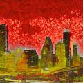 Houston Skyline 50 - Pa by Leonardo Digenio