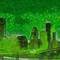 Houston Skyline 51 - Pa by Leonardo Digenio