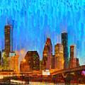 Houston Skyline 80 - Pa by Leonardo Digenio
