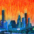 Houston Skyline 81 - Pa by Leonardo Digenio