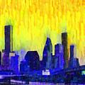 Houston Skyline 83 - Pa by Leonardo Digenio