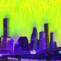 Houston Skyline 84 - Pa by Leonardo Digenio