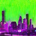 Houston Skyline 85 - Pa by Leonardo Digenio