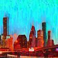Houston Skyline 87 - Pa by Leonardo Digenio