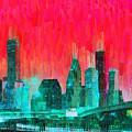 Houston Skyline 91 - Pa by Leonardo Digenio