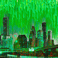 Houston Skyline 96 - Pa by Leonardo Digenio