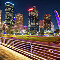 Houston Skyline From Buffalo Bayou Pedestrian Bridge by Andy Crawford