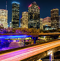 Houston Skyline From I-45 by Andy Crawford