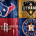 Houston Sports Teams Barn Door by Dan Sproul