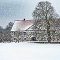 Hovdala Castle Main House In Winter by Antony McAulay