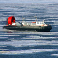Hovercraft On Frozen Artic Ocean by Anthony Jones