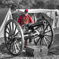 Howitzer Battle Of Honey Springs V5 by John Straton