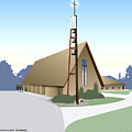 Hudson Community Church by Greg Joens