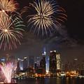 Hudson River Fireworks Iv by Clarence Holmes