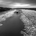 Hudson River In Winter by Eleanor Bortnick