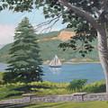 Hudson River Schooner by Robert Rohrich