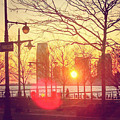 Hudson River Winter Sunset by William North