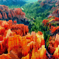 Hues Of The Hoodoos In Bryce Canyon National Park by Elaine Plesser