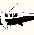 Hug Me Shark - Black  by Pixel  Chimp