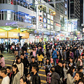 Huge Crowd In The Streets Of Mongkok In Hong Kong by Didier Marti