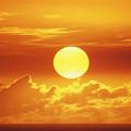 Huge Orange Sun by Bob Abraham - Printscapes
