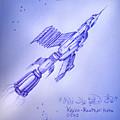 Huge Space Shuttle. In Antiworld by Sofia Metal Queen