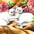 Hugging Cats by Linda L Martin