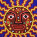 Huichol Beadwork Sun Mexico by John  Mitchell