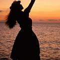 Hula At Sunset by Allan Seiden - Printscapes