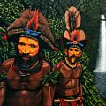 Huli Men In The Jungle Of Papua New Guinea by Paul Meijering
