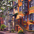 Hull Street In Chippewa Square Savannah by Jeff Pittman