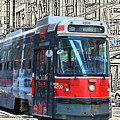 Humber Bound Streetcar On Queen Street by Nina Silver