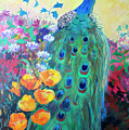 Hummingbird And Peacock by Robin Maria Pedrero