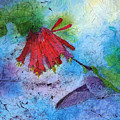 Hummingbird Batik Watercolor by Conni Schaftenaar