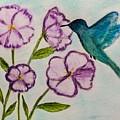 Hummingbird Blue by Sandra Dorton