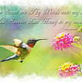 Hummingbird With Bible Verse by Debbie Portwood