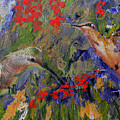 Hummingbirds 2, Abstract Art by Kathy Symonds