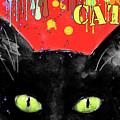 humorous Black cat painting by Svetlana Novikova