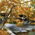 Humpback Covered Bridge In Autumn by Mel Steinhauer