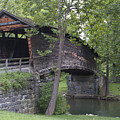 Humpback Covered Bridge In Covington Virginia by Brendan Reals
