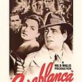 Humphrey Bogard And Ingrid Bergman In Casablanca 1942 by Mountain Dreams