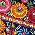 Hungarian Matyo Szentgyorgy Folk Embroidery Photographic Print by Andrea Lazar
