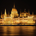 Hungarian Parliament Building After Dark by Bob Phillips