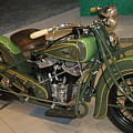 Hunter Green Indian Motorcycle...   # by Rob Luzier