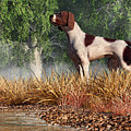 Hunting Dog By A River by Daniel Eskridge