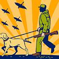 Hunting Gun Dog by Aloysius Patrimonio